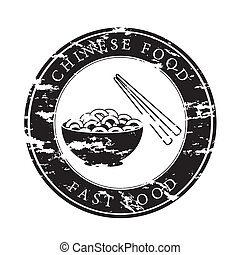 chinese food over white background vector illustration