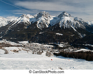 Scuol in winter time (Switzerland)