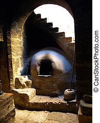 Somber kitchen in Santa Catalina monastery (Arequipa, Peru)
