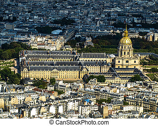 Invalides - view from Eiffel tower Paris, France