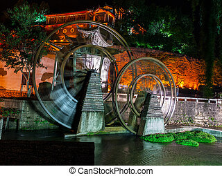 Watermill in Lijiang (Yunnan, China)