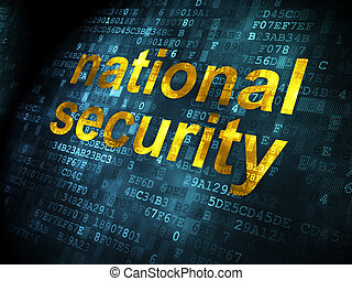 Safety concept: National Security on digital background -...