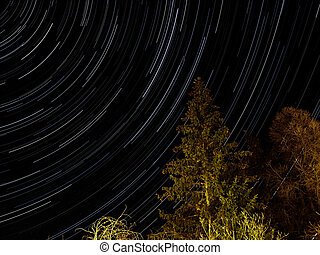 Startrails at night (Scuol, Switzerland)