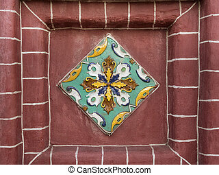 Yaroslavl ceramic - Traditional outside wall tile decoration...