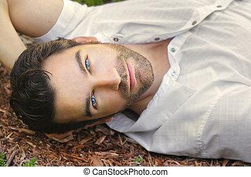 Beautiful man face
