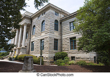 Granite Block Courthouse - An old courthouse of granite...