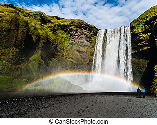 Skogafoss - one of the most beautiful waterfalls in the...