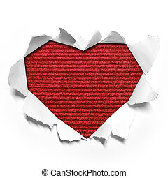 Heart shape paper