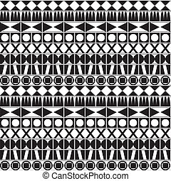 Monochrome geometric pattern - Seamless background