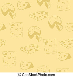 patern_cheese.eps - Jointless yellow pattern with cheese:...