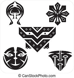 Northwest Art - masks Vector set - Northwest masks Vector...