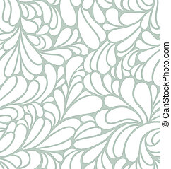 Abstract curls seamless pattern