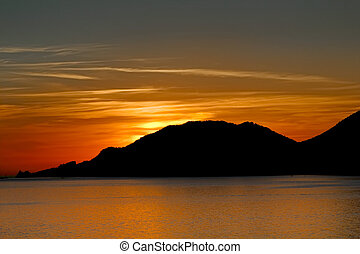 Sunset viewed from Lerici - Sunset, Portovenere, Lerici,...