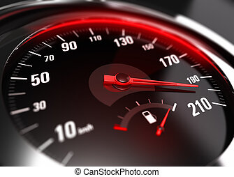 Excessive Speeding Careless Driving Concept - Close up of a...