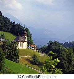 Berchtesgaden, Germany - Church Maria Gern, Berchtesgaden,...