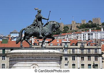 Lisbon Portugal Rossio Praca da Figueira - Rider on the...