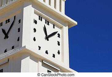 The clock of les Sables dOlonne - The beach clock of les...