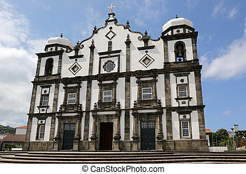 Church on the island of Flores Azores Portugal - Church in...