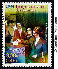 Postage stamp France 2000 Women's Suffrage, 1944 - FRANCE -...