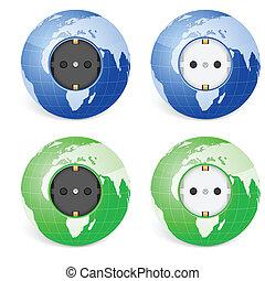 outlet socket world globe