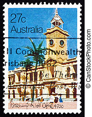 Postage stamp Australia 1982 Rockhampton Post Office, 1892 -...