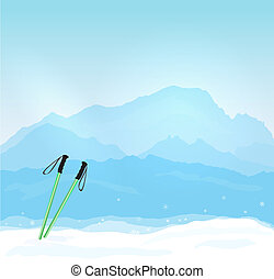 Wintersports in France - Vector Wintersports concept with...