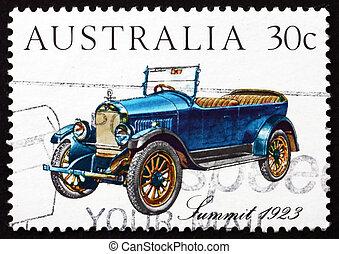 Postage stamp Australia 1984 Summit 1923, Vintage Car