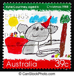 AUSTRALIA - CIRCA 1988: a stamp printed in the Australia...