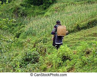 Hmong woman in Sapa, Vietnam
