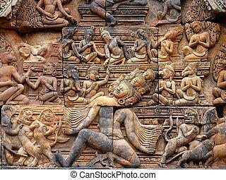 Banteay Srei ruins temple in Siem Reap, Cambodia