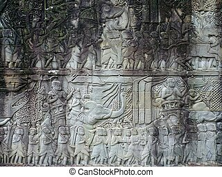 Angkor Thom ruins temple in Siem Reap, Cambodia
