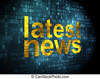 News concept: Latest News on digital background - News...