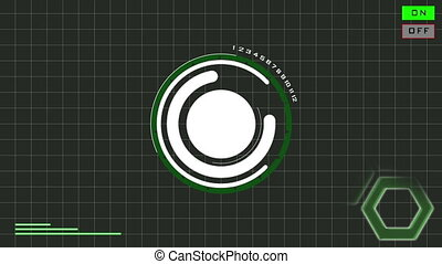 HUD Standard green - Hud standard animation,with white empty...