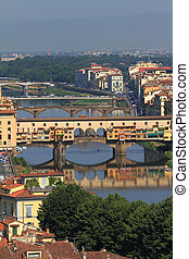 Ponte Vecchio in Florence in Italy