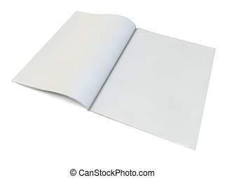 blank magazine - render of a blank magazine