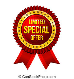 Lbel Limited Special Offer with ribbons Vector illustration