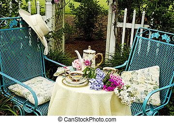 Close up Garden Tea