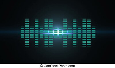 Sound blue bars - Blue bars sound animation