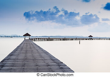 Vacations And Tourism Concept. Tropic Paradise. Jetty