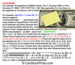 logarithm - Logarithmr with logarithm definition background...