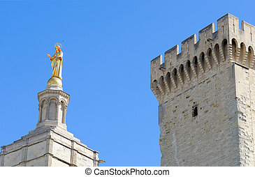 Avignon - the papal palace in the tow of Avignon