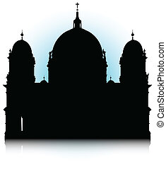 Berlin Cathedral - An abstract vector illustration of the...
