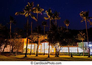 Luxury resort at night view