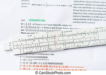 logarithm ruler - Logarithm ruler with logarithm definition...