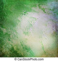 acrílico, pintura, antigas, papel