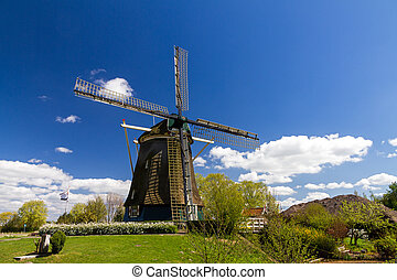 Dutch mill - Dutch windmill the Riekermolen near the Amstel...