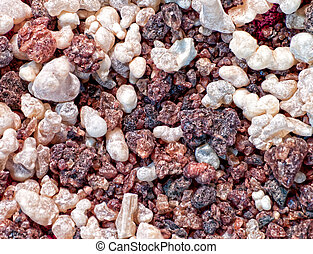 frankincense and myrhh - close-up of frankincense and myrrh
