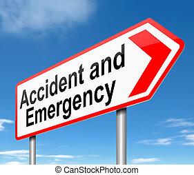 accidente, emergencia, señal