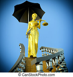 Steps to justice - Steps to justice - Lady of Justice is...