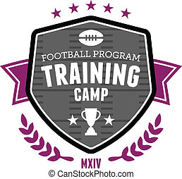 Football training camp emblem - Sports football training...